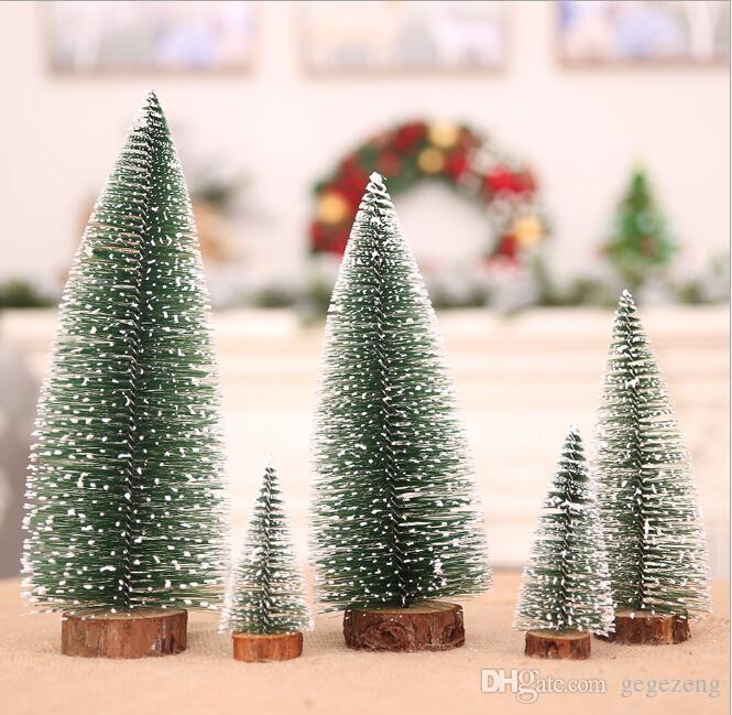 Explosion de Noël Décoration de Noël Arbre Décoration Mini Blanc Sapin de Noël Aiguille Pin Table Bar Mall