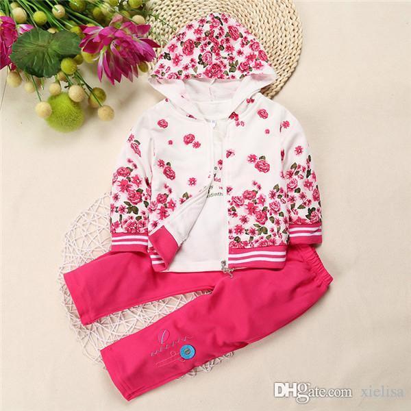Bebé que los niños ropa niños chica de manga larga sistemas ocasionales de diseño de camisetas y pantalones lleva cuentos para niños JYY-042