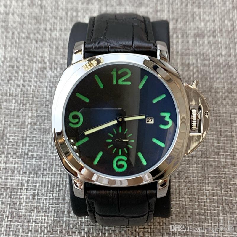 빅 블루 얼굴 석영 다이얼 2010 고품질의 새로운 도착 남자 시계 명품 가죽 시계는 스포츠 캐주얼 클럭을 dropshipping를 손목 시계