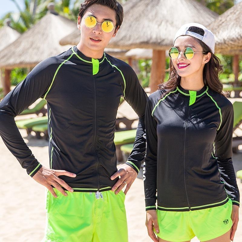 Floating de de Couple Wetsuits Costume de plongée Sun Beach Protection Vêtements Hommes Femmes Sports de plein air Surfing Vêtements Ski nautique