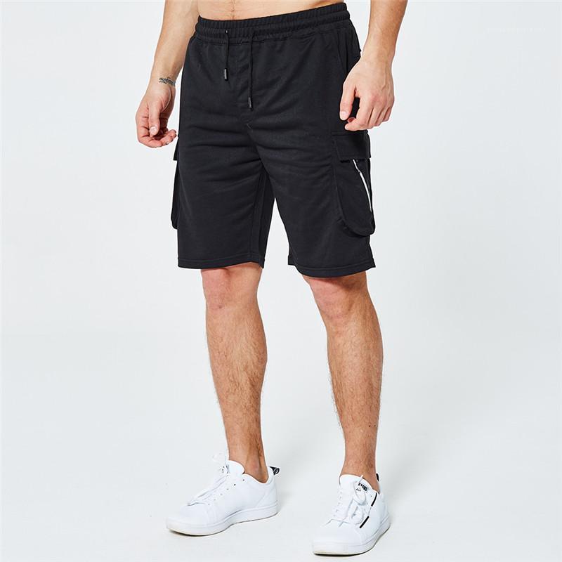 Pantalones hombres del estilo del deporte de ocio de moda masculina longitud de la rodilla del verano del Mens Pantalones cortos Pantalones cortos Diseñador Relajado casaul