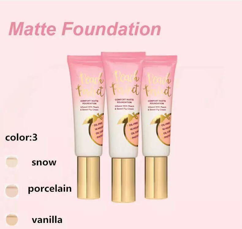 Dropshipping горячий макияж Фонд персик идеальный комфорт матовый фонд 3 цветов 48 мл Крем для лица Фонд высокого качества.