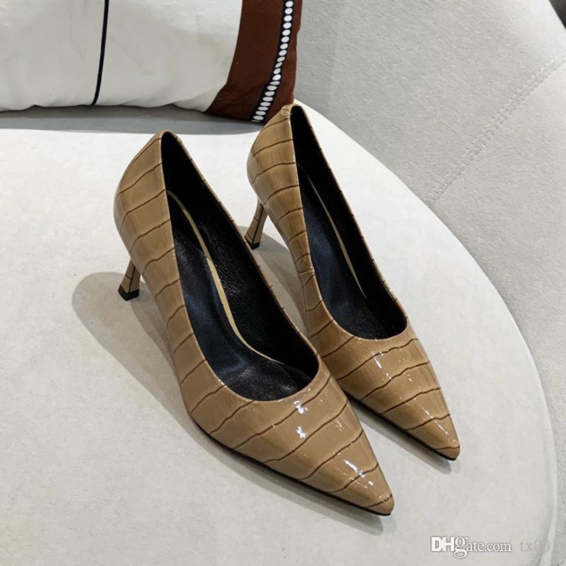 Новая эксклюзивная женская мода высокие каблуки тренд Каменный узор шипованные туфли высокое качество Роскошные дизайнерские туфли высота каблука 6,5 см