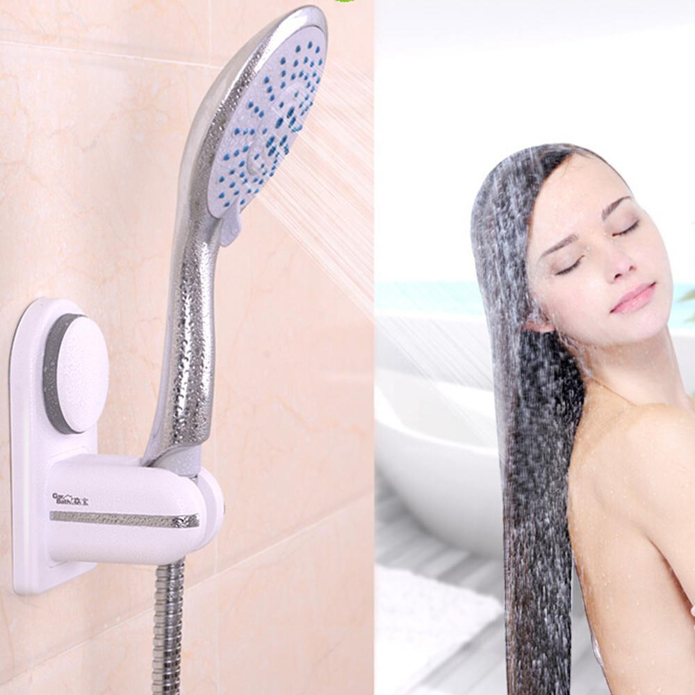 Adjustable ABS Suction Cup Shower Head Holder Wall-Mount Shower Nozzle Bracket.