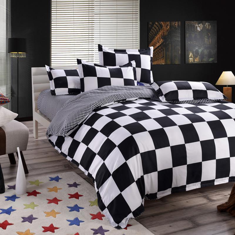 Klassische Bettwäsche Set 4 Größe grau Blaue Blume Bettwäsche 4 teile / set Bettbezug Set Pastoralen Bettblatt AB seitlich Bettdeckenabdeckung 2018