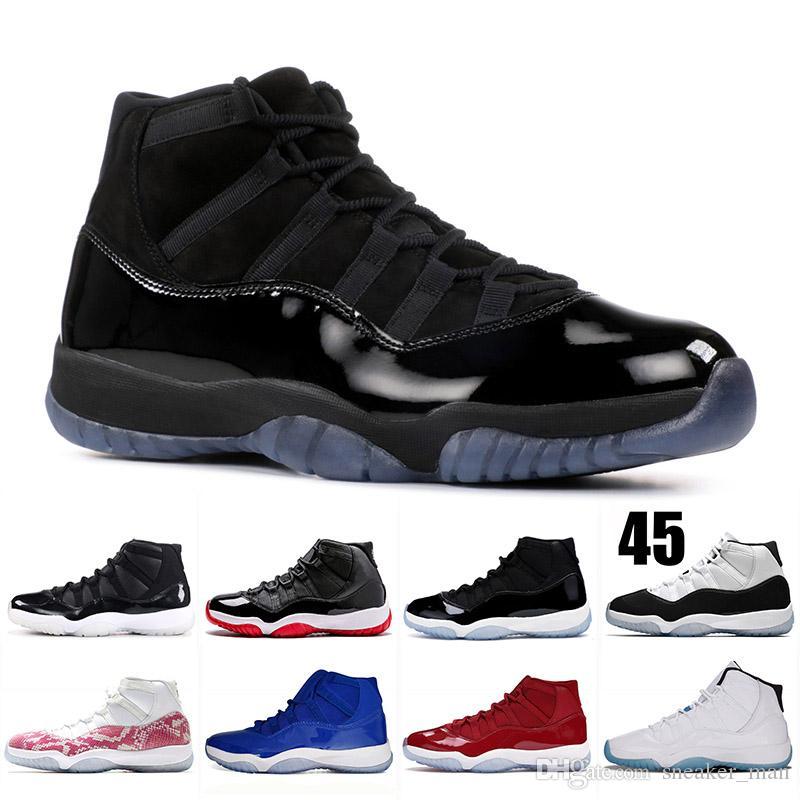Concord 11s tampão e do vestido Space Jam 11 Snakeskin Mens tênis de basquete Bred Tamanho 11 mulheres ouro Mens Trainers 36-47