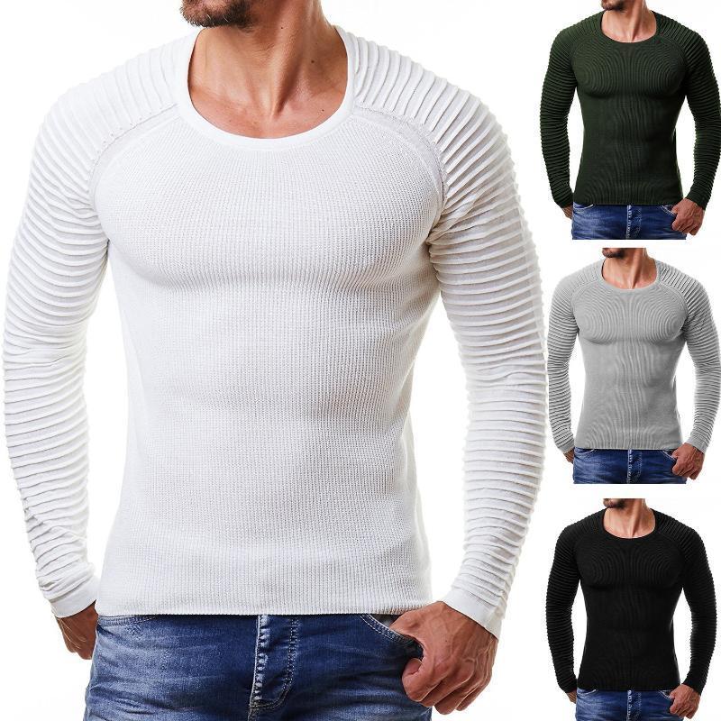 Nen Hommes Coton Pull Casual Sweater Automne Hiver Préfet Qualité Manteau O-cou solide Vêtements manches longues Dropshopping