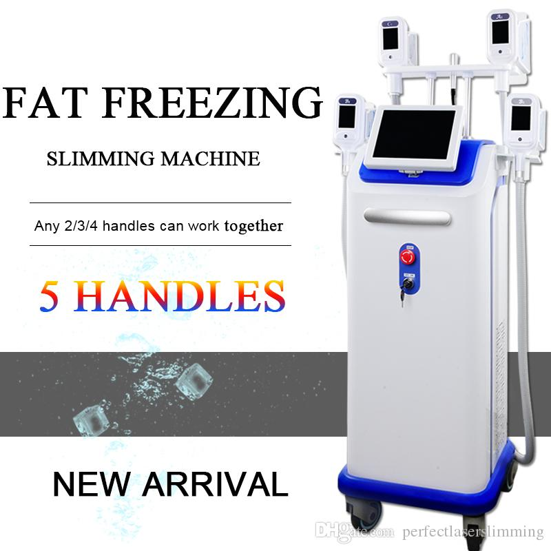 cryolipolysis slimming machine with 5 cryo handles fat freezing device vacuum slimming machine double chin fat removal