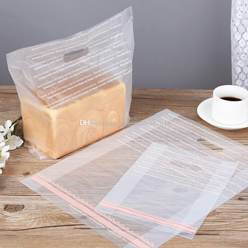 3 المساحة متجمد من البلاستيك الشفاف الوجبات الجاهزة حقائب المتاح خبز توست حقائب كعكة الحلوى التعبئة حقيبة للتسوق المخابز