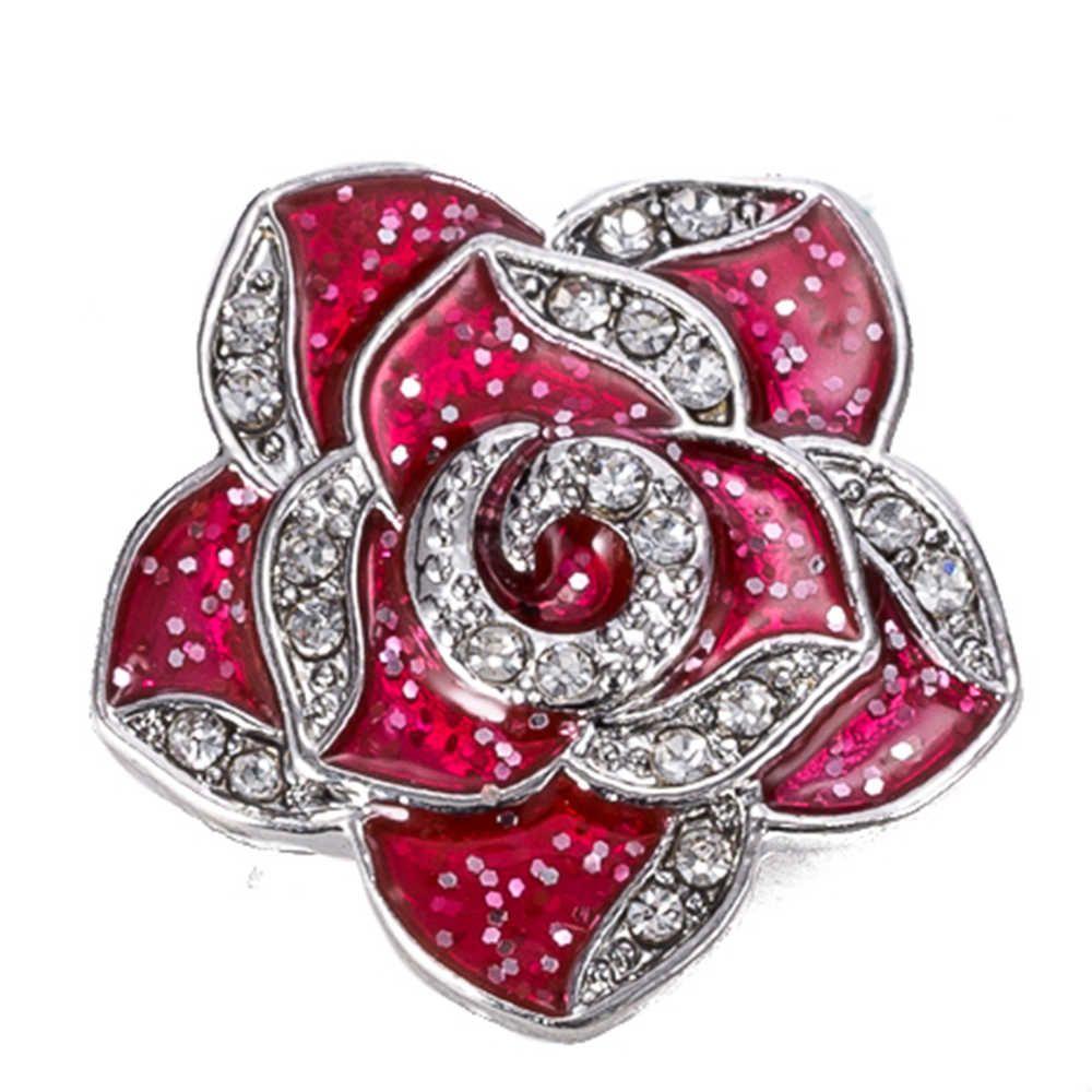 20шт Snap кнопки 18 мм металлические защелки для щелкает браслеты подходят имбирь украшения цветок оснастки