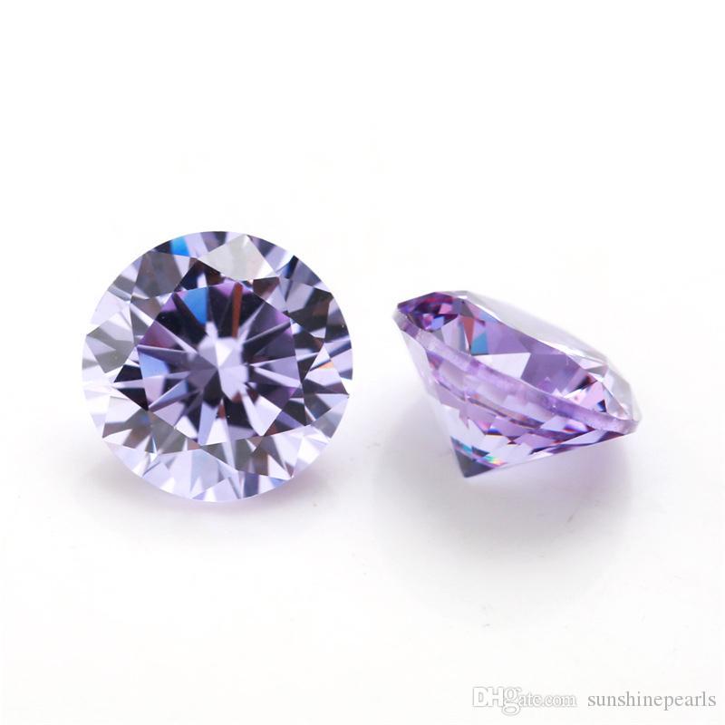 جودة عالية 100 PCS / كيس 5 مم واضحة جولة قص 15 الألوان 5A الأحجار الكريمة زركونيا مكعب الماس الخرز فضفاض الأحجار الكريمة لحرية الملاحة ديي
