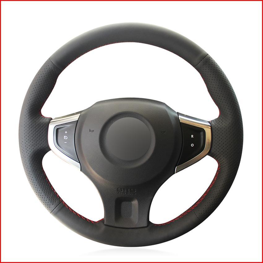 Черный искусственная кожа PU крышка рулевого колеса автомобиля для Renault Koleos 2008-2016 Renault Samsung QM5 2007-2014