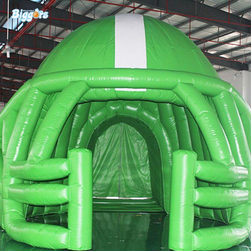 Outdoor Equipe engraçados Capacete de futebol infláveis Dome Estádios de futebol infláveis de Futebol Esporte Capacete de túneis para Venda