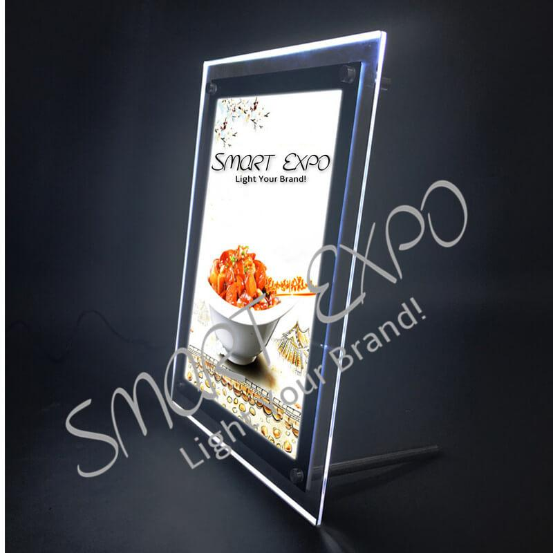 40*60cm Tabletop Poster Display Panel Featuring Free Standing on Table Supported by Steel Bolts and Firm Wooden Case Packing