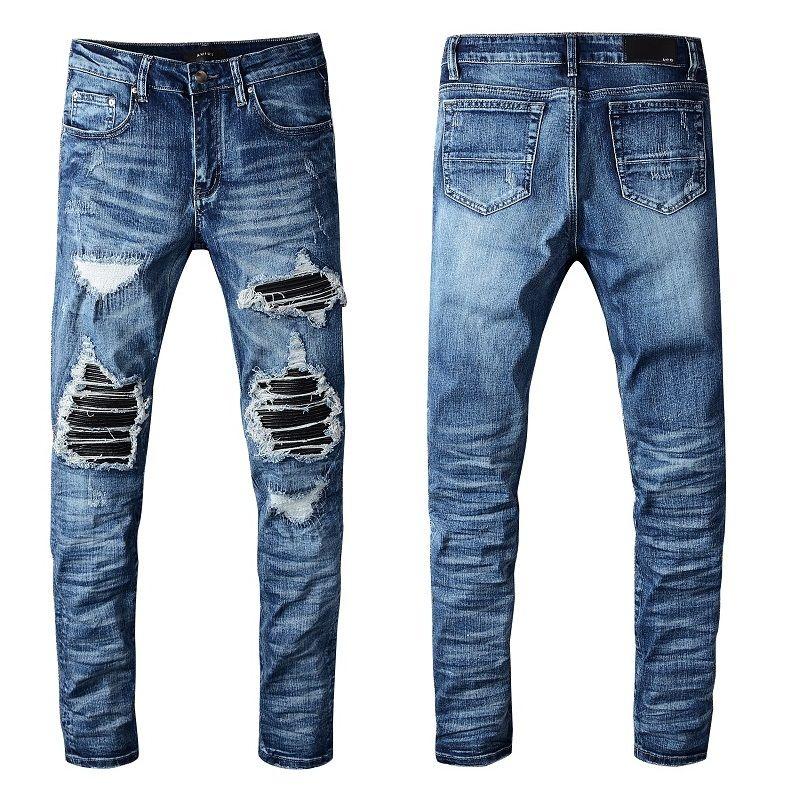 Luxury Solid Style Style Fashion Mens Jeans Arrivo Biker Jeans Lavato Jeans Distressed Ways Jeans Zebra Stripes Top Quality US Regno Unito Dimensione 29-40