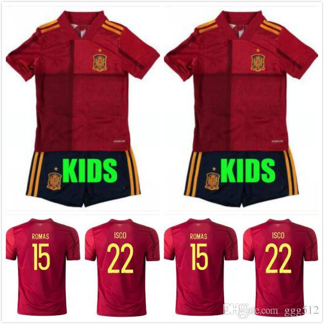 MAN + KIDS KIT 2020 Испания футбол Джерси Иньеста RAMOS Мората ISCO национальной сборной по футболу рубашка Asensio SERGIO SILVA TORRES Camiseta де fútbol