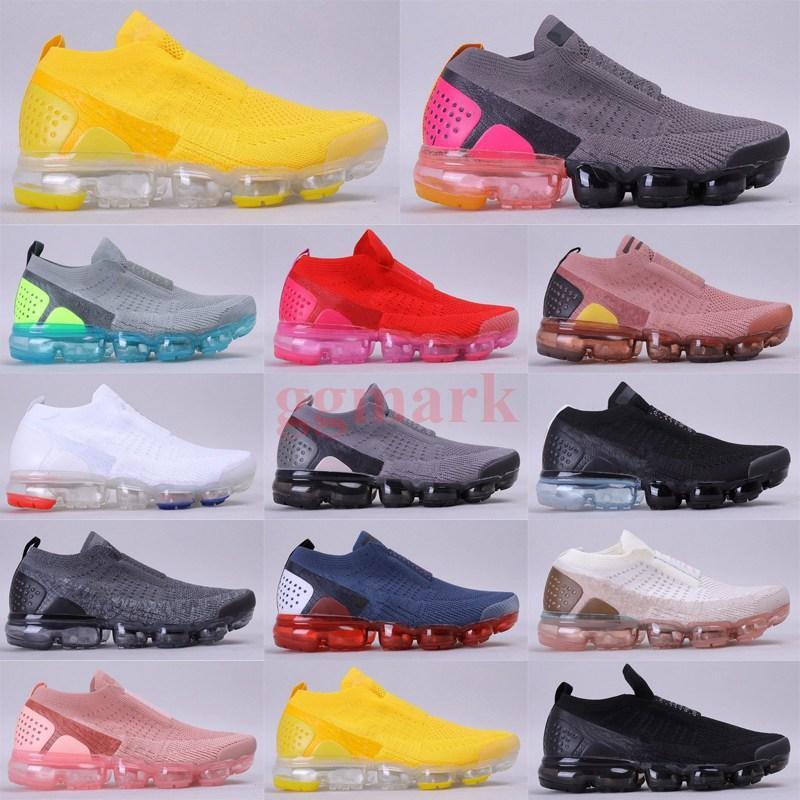 رجل مصمم أحذية chaussures moc 2 laceless knit 2.0 الاحذية الثلاثي الأسود الأبيض المرأة مصمم أحذية رياضية رياضية 36-45