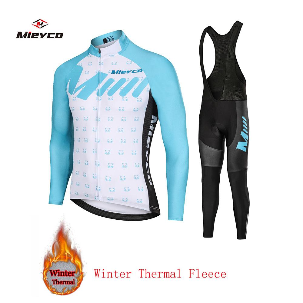 2020 winter thermal Fleece cycling clothing Men road bib set Sport bicycle clothes pro team suit mtb dress male kit