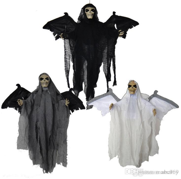 Halloween Hung Ghost with light Voice Control Horror Ghost halloween decoration Party supplier house decoration funny toys