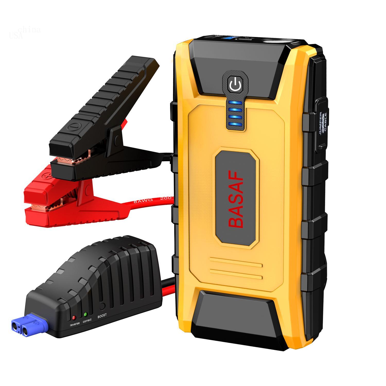스마트 포트 충전과 배터리 부스터와 전화 충전기 (최대 8.0L 가스, 6.0L 디젤 엔진에) BASAF 1200A 휴대용 자동차 점프 스타터