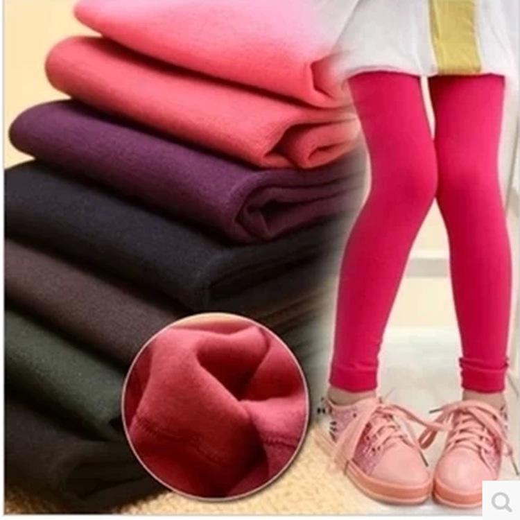 Hot & New Winter Children's Fleece Leggings Girls Pants With Velet Leggings Girls Trousers Kids Pants