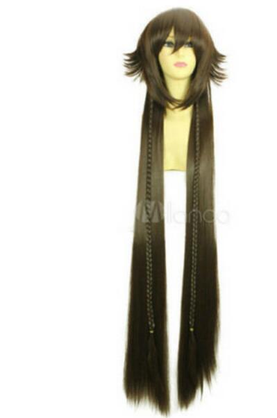 LIVRAISON GRATUITE + Perruque Pandora Hearts Kuro Usagi résistant à la chaleur en Fibre Cosplay 100CM