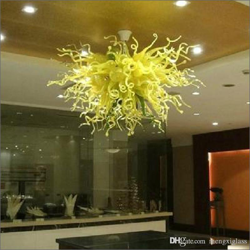 Hochzeit Mittel Bunt Handgemachte geblasenem Glas Big Kronleuchter Top Design Farbige Mundgeblasen Borosilikat Pendelleuchten