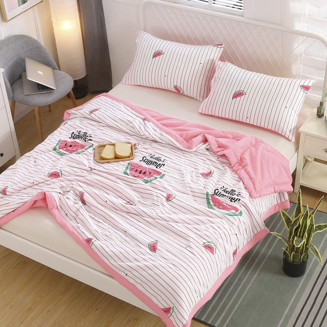 3 ADET Ev Tekstili Baskı Yatak Yorgan Modern Stil Yastık Yumuşak Çift Yatak Dikdörtgen Set Yastık Kılıfı)