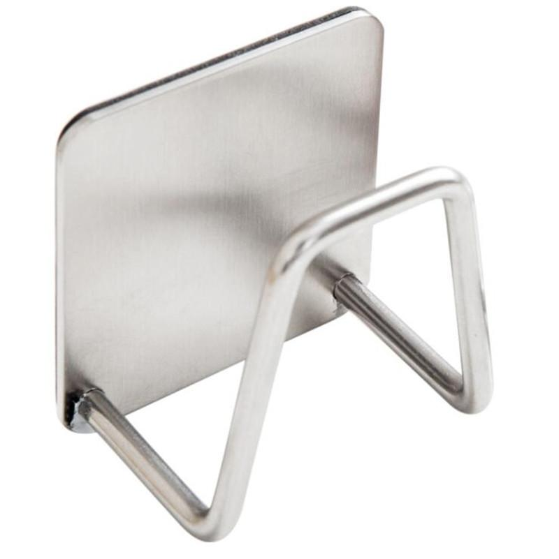 Küche Edelstahl Schwämme Halter Self Adhesive Sink Schwämme Ablass Wäschetrockner Kitchen Sink Zubehör Organizer
