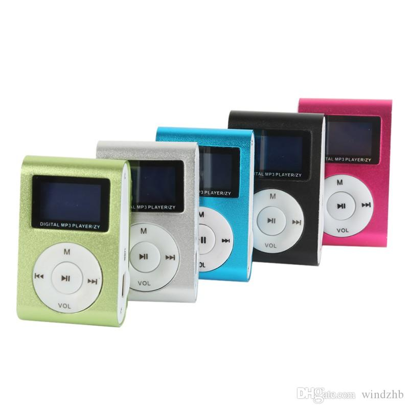 Mini USB Metal Clip Music MP3 Player LCD Screen Sports MP3 Players With FM Radio Support 32GB Micro SD TF Card Slot