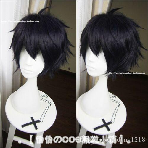 Owari no Seraph of the End Cosplay perruque stylisée bleu noir Yuichiro Hyakuya S009