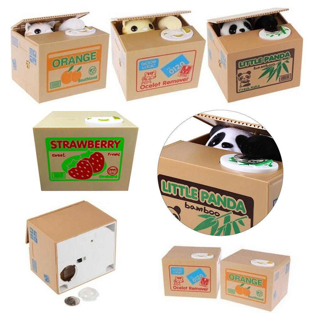 1PCS Hot Sale Automated Cat Steal Coin Bank Piggy Bank Moneybox Money Saving Box Gifts Digital Coin Jar Alcancia Cofre
