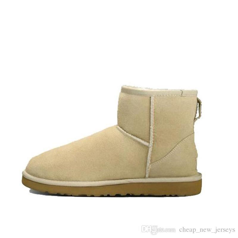 300 + 2020 de la nieve de invierno barato cuero de las mujeres se arrodillan medio de castaño azul marino azul zapatos para mujer de café de color rojo largo de la muchacha botines Negro Gris