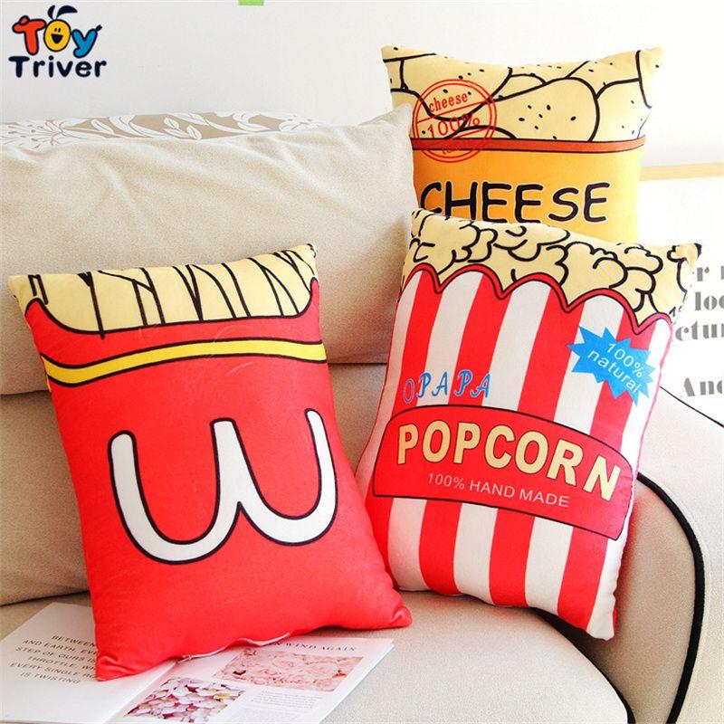 Popcorn belle décoration peluche en peluche Coussin énorme Throw Pillow Toy