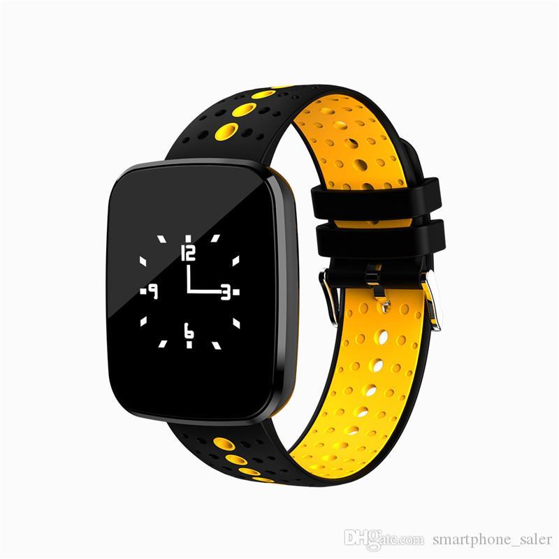 V6 Smart Watch Blutdruck-Puls-Monitor-Tracker intelligente Armbanduhr IP67 Bluetooth Wettervorhersage-Armband für iPhone iOS Android