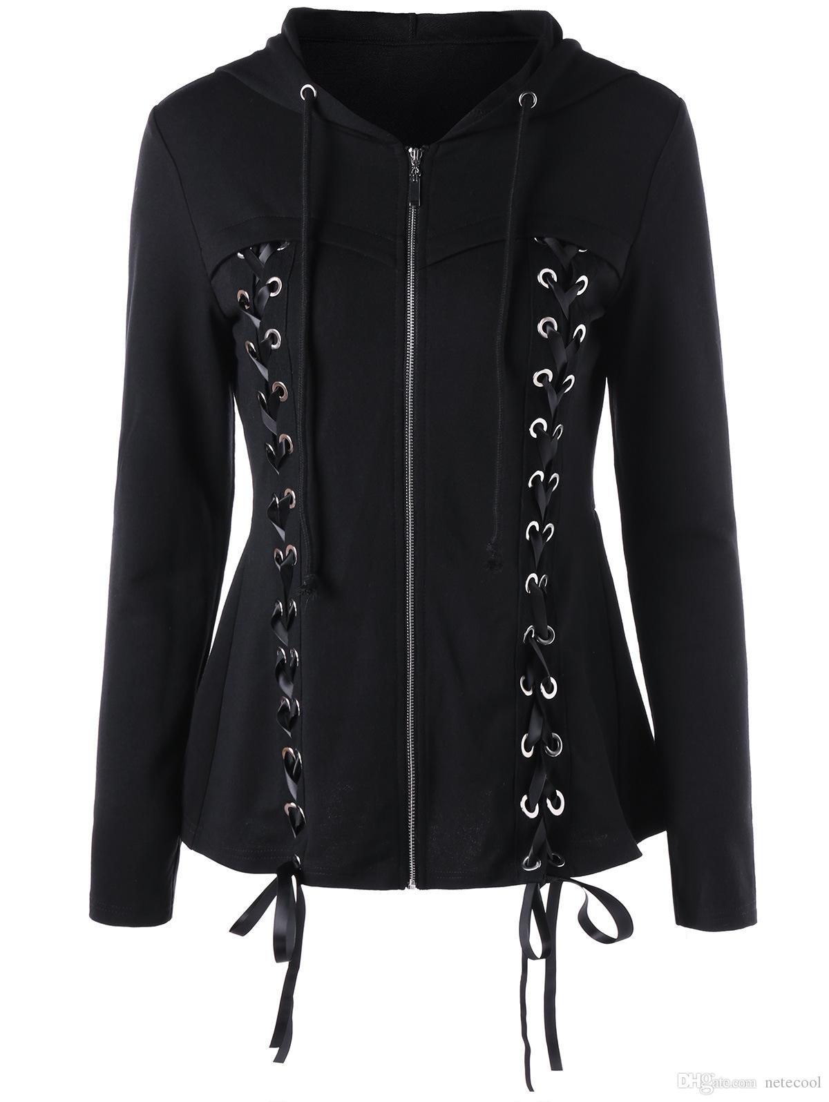 FarJing Womens Hoodies Fashion Casual Sweatshirt Patchwork Hooded Blouse Pullove