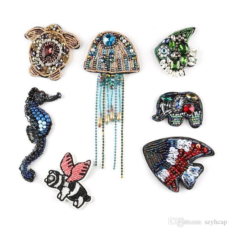 Hecho a mano Costura Ropa Pegatinas Animales Beetles Insecto cosido en ropa Sombreros Bolsa Accesorios Cuentas de uñas DIY Ideas de Rhinestone