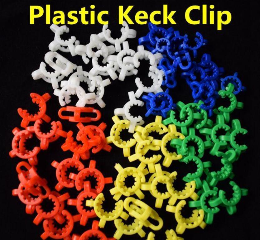 2020 NOUVEAU 10 mm 14 mm 19 mm joint en plastique Keck Pince de laboratoire / Lab Pince clip pour verre adaptateur en verre Bong Nectar Collector