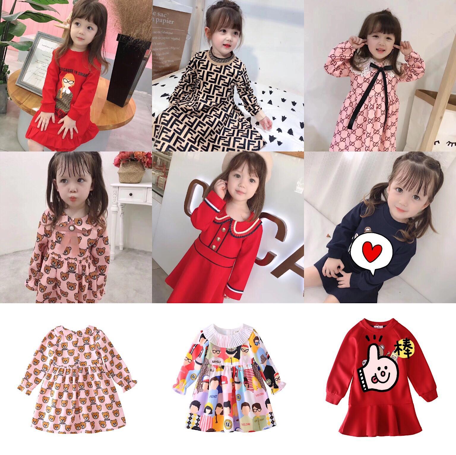 جودة فاخرة طفلة مصمم اللباس تنورة منقوشة على شكل قلب الملابس المطبوعة المضادة للفتاة باللباس الطفل