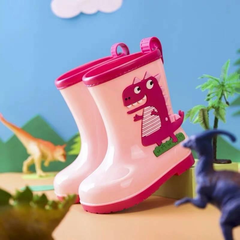 2020 neue Kinder Regen Stiefel Jungen Wasser Schuhe Cartoon Dinosa wasserdichte Anti-Rutsch-Mädchen Gummistiefel hildren Gummistiefel Removable