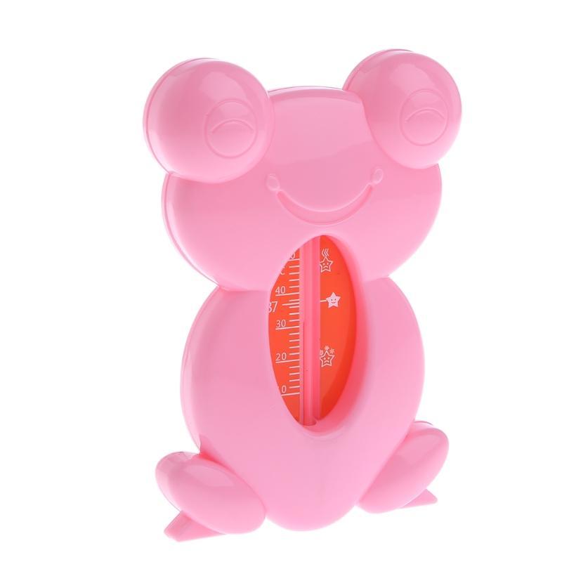 Rana linda de la bañera del baño Agua Segura probador del termómetro para los niños del bebé