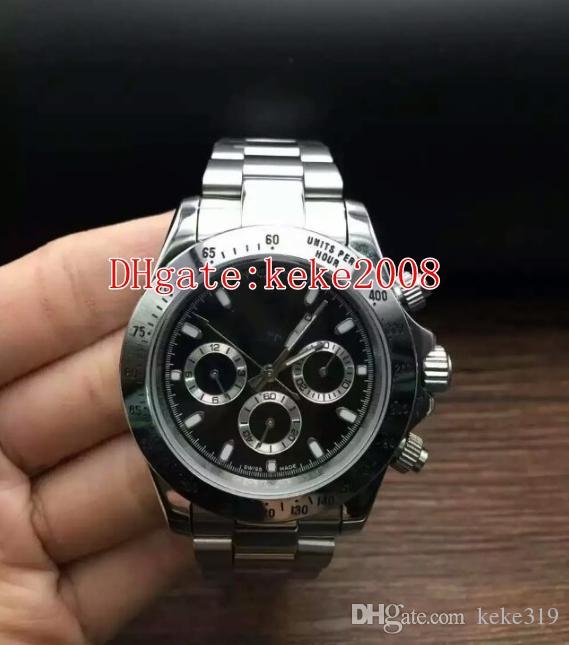 Orologio da polso Topselling Cosmograph 116520-0015 116520 40mm oro giallo 18 carati No cronografo Asia 2813 Movement Automatic Mens Watch Watches