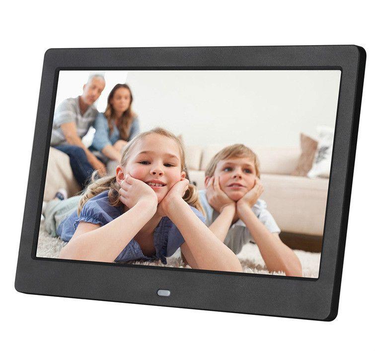 10 inç Ekranı LED Arka HD 1024 * 600 Dijital Fotoğraf Çerçevesi Elektronik Albüm Resim Müzik Film Full Fonksiyon Noel Hediye