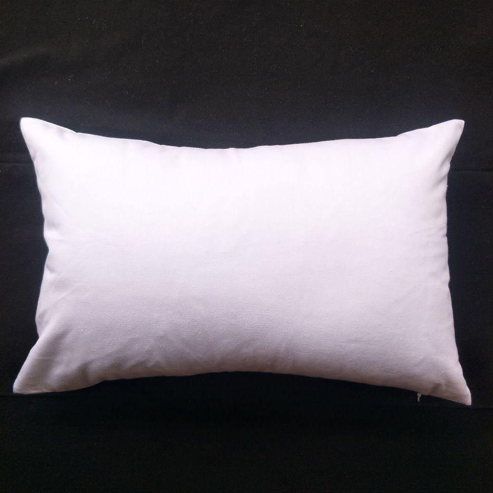 DIY ekran için DIY boya / baskı saf pamuklu beyaz yastık kapağı için 1 adet 11x17in 200gsm kalın Boş beyaz pamuk dimi kereste yastık kılıfı