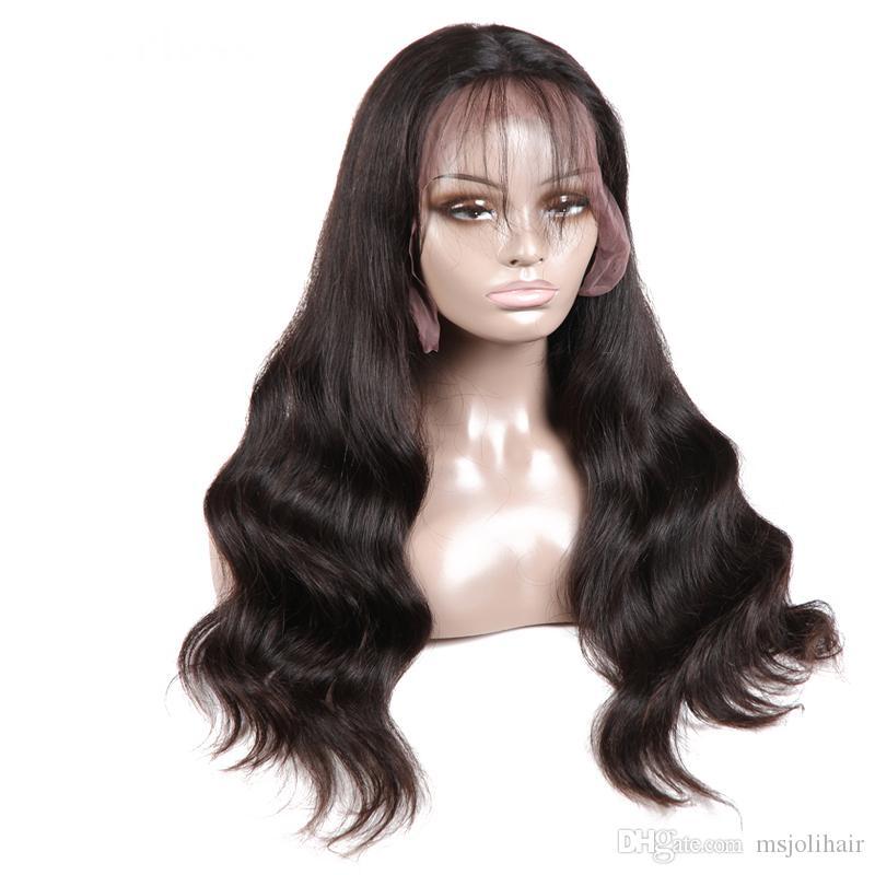 Brazilian Body Wave Lace Front Wig Brazilian Virgin Human Hair Lace Wigs for Black Women Natural Color