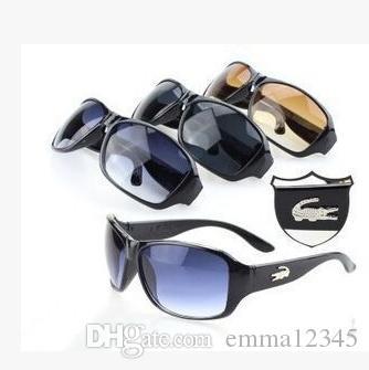 새로운 악어 남자 PC 선글라스 직사각형 복고풍 스타일 패션 디자이너 인기 선글라스 자외선 차단 렌즈 풀 프레임 안경