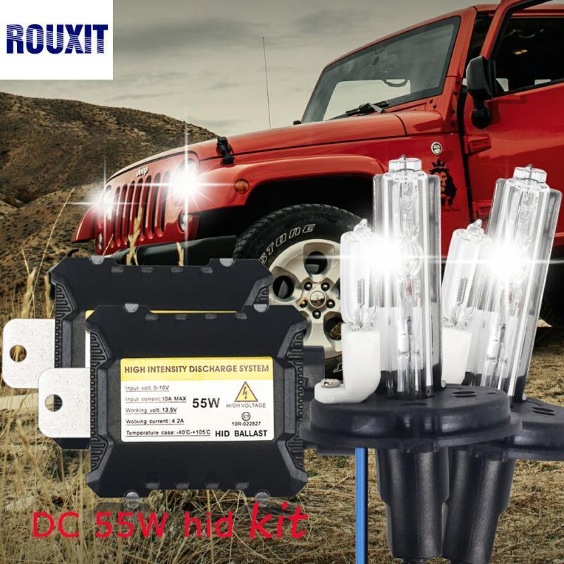 xeno H4 con alogeno kit lampada H4-2 H13-2 9004-2 9007-2 HID Xenon Conversion Kit filo reattanza dell'automobile PROIETTORE H4-2 55w