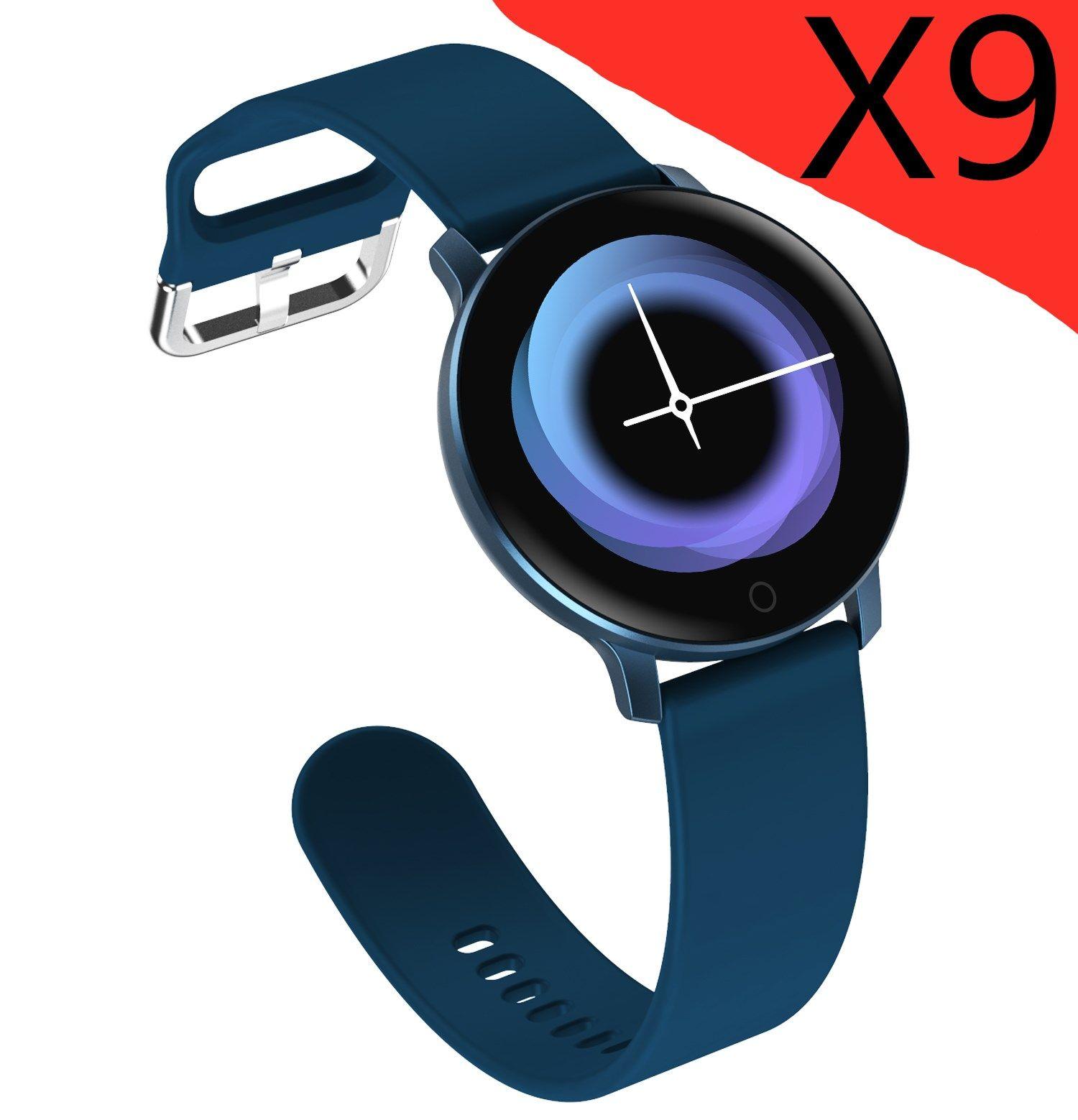 Inteligente reloj pulsera inteligente X9 rastreador de ejercicios de ritmo cardiaco correa de reloj inteligente de correas para el iPhone de Apple teléfono Android con Box