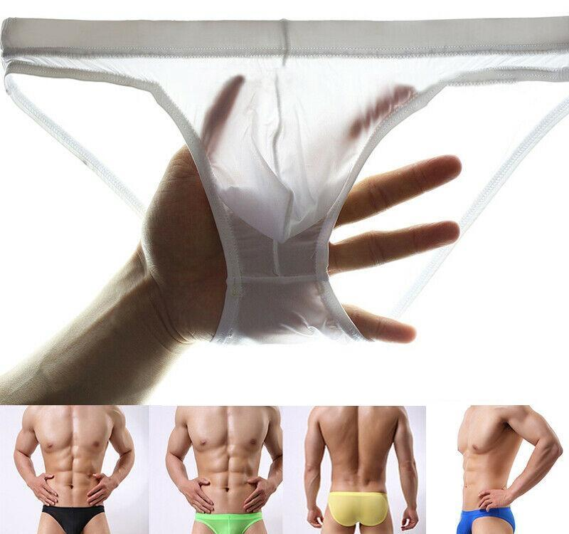 Men/'s Breathable Ice-Silk Underwear Boxer Briefs Shorts Bulge Pouch Underpants