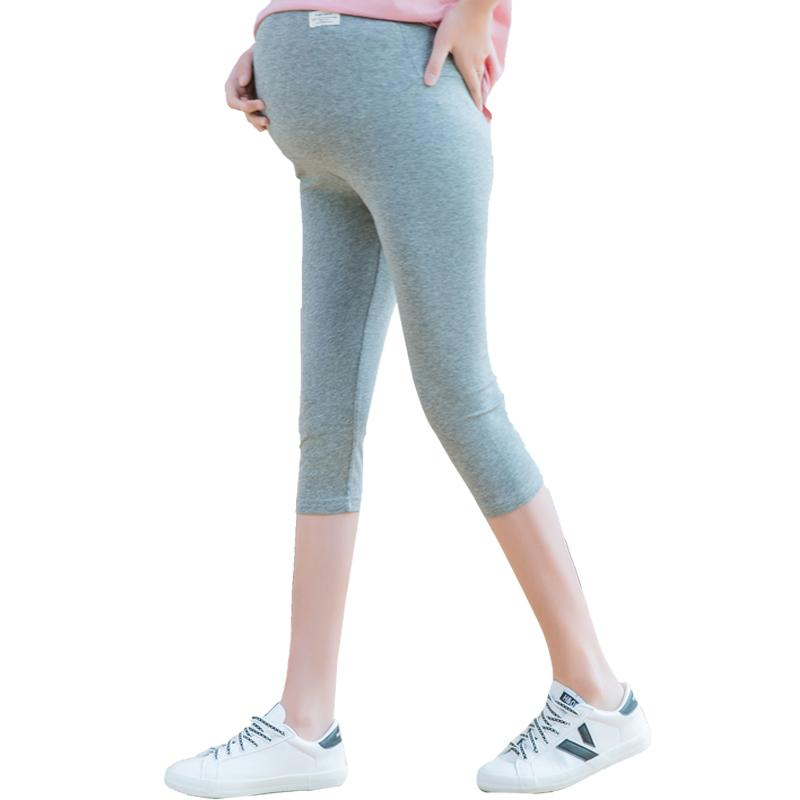 Maternity Capri pantaloni di Capris in gravidanza a vita alta di vestiti di maternità per incinte pantaloni di estate delle donne Premama